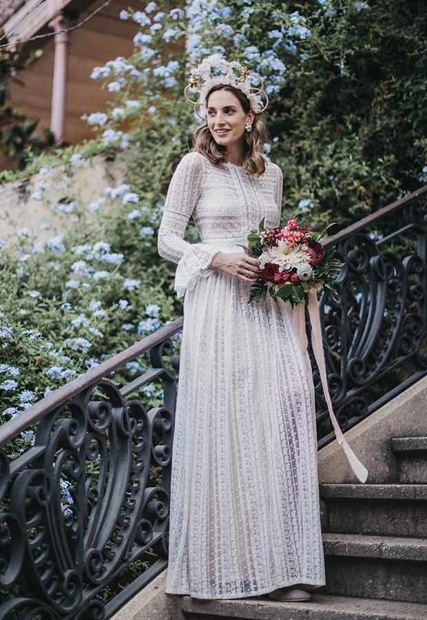Confesiones de una boda con vestido con detalles
