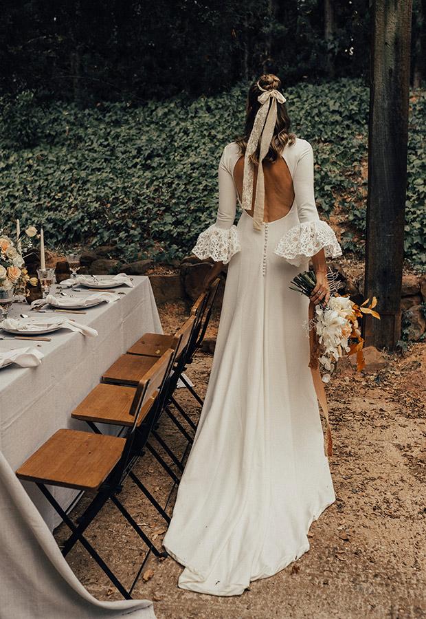 Confesiones de una boda con vestido con mangas originales