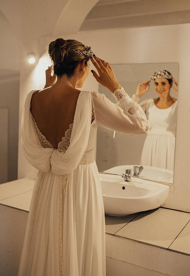 Confesiones de una boda con vestido con espalda al aire