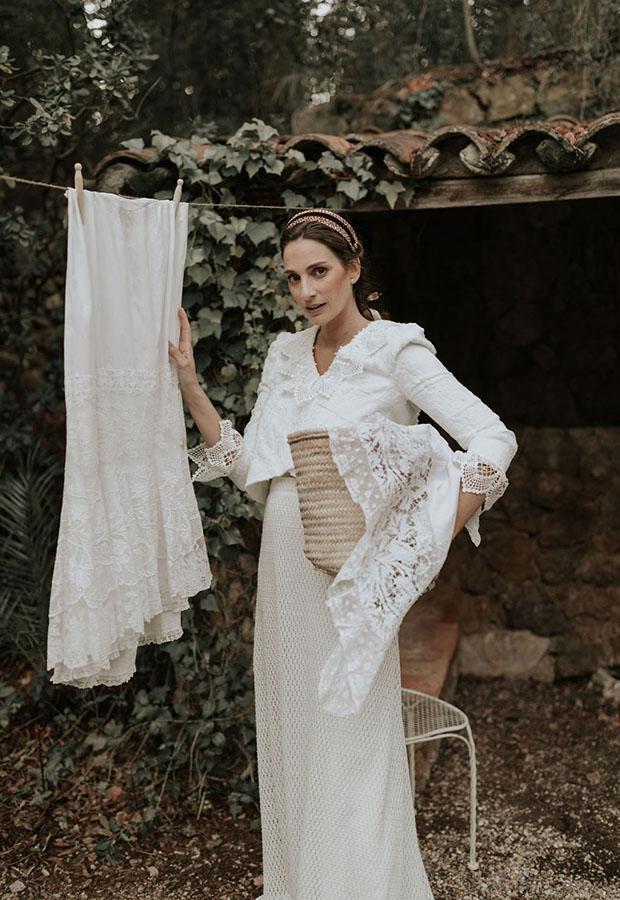 Vestido de novia rústico de Confesiones de una boda