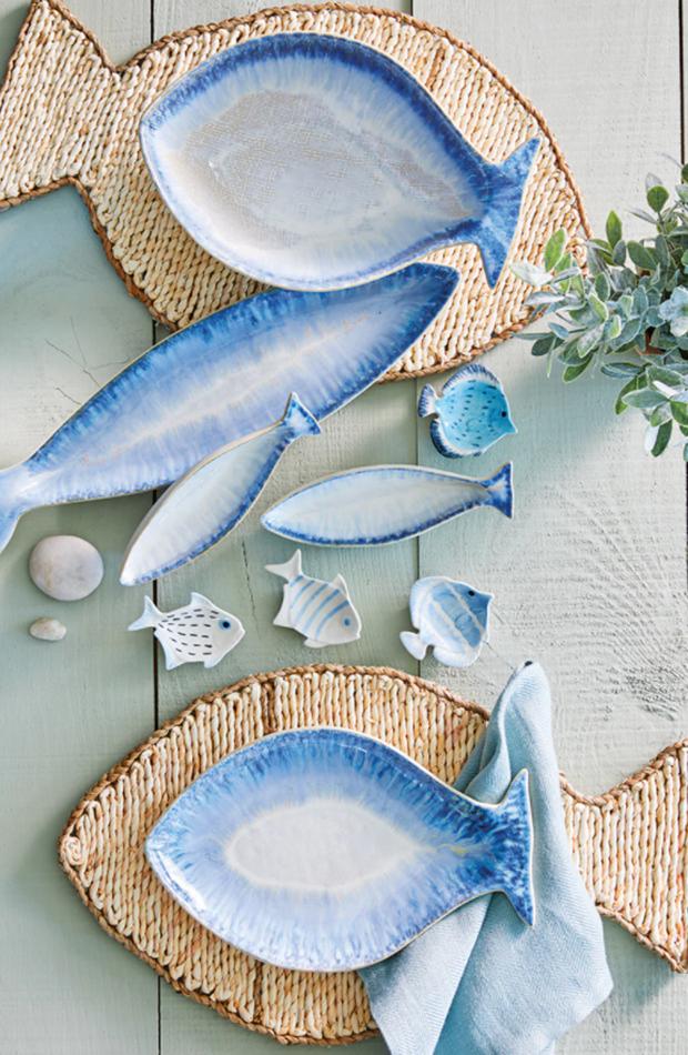 menaje de mesa Fuente con forma de pez