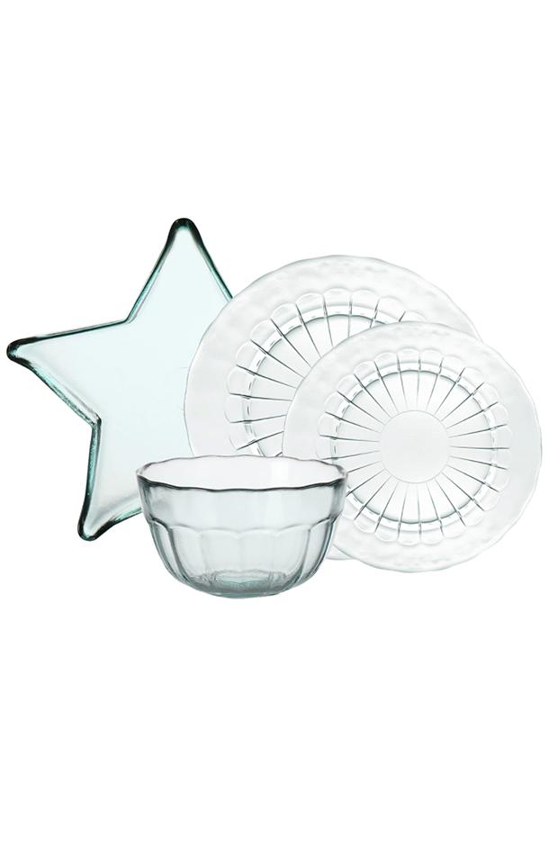 menaje de mesa Vajilla de vidrio reciclado de El Corte Inglés