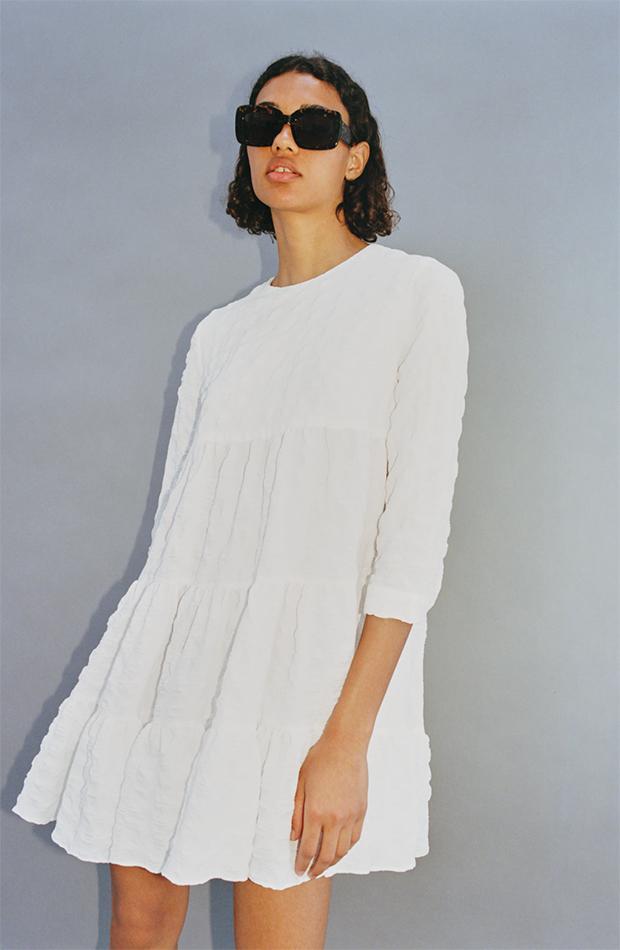 Vestido blanco de zara nueva colección verano