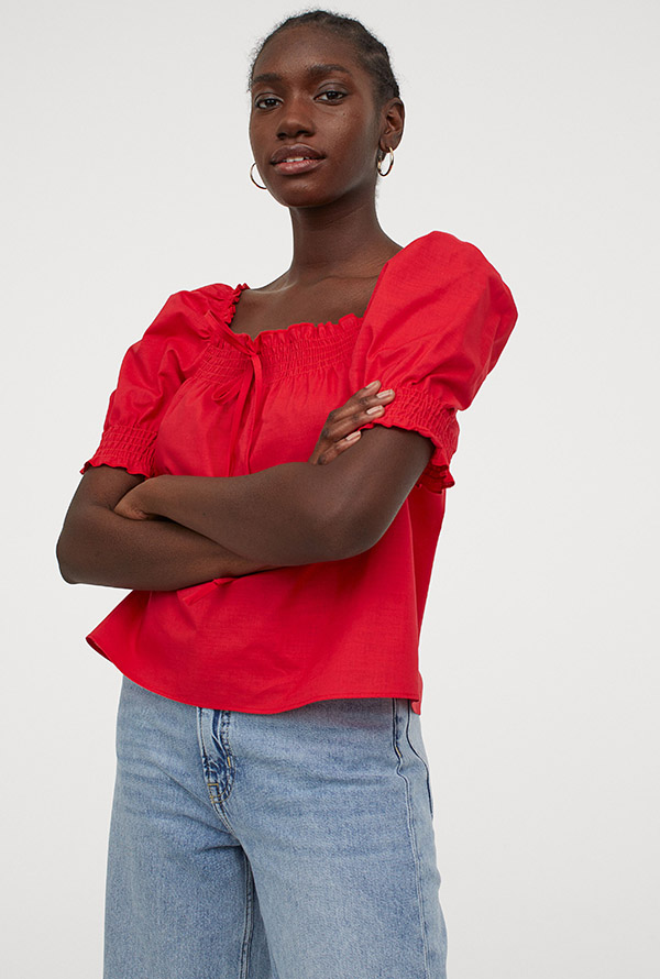 Prendas en rojo: top de H&M