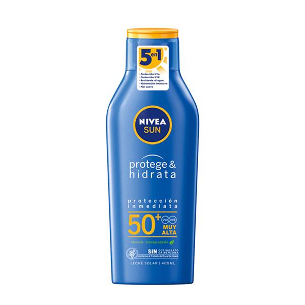 Leche solar Protege & Hidrata SPF 50+ Nivea sun