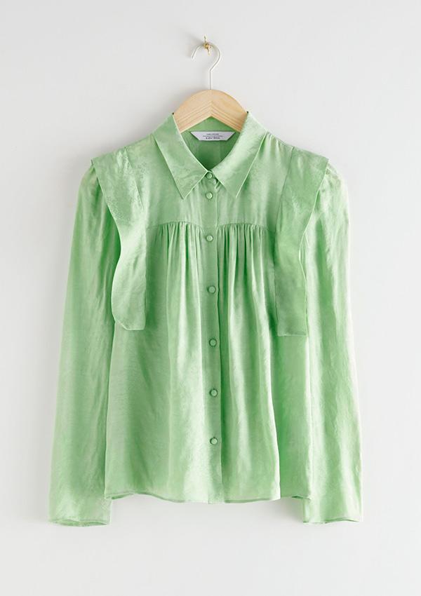 Blusa verde manzana de las rebajas And Other Stories