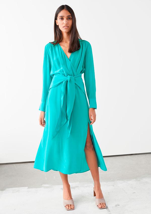 Vestido turquesa de las rebajas And Other Stories