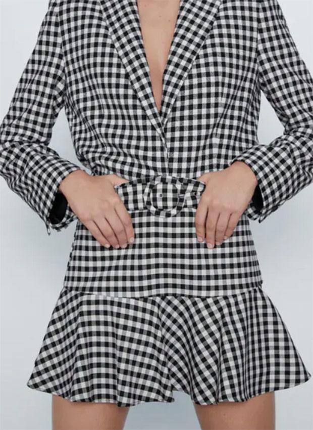 Falda pantalón vichy de las Rebajas Zara Verano 2020