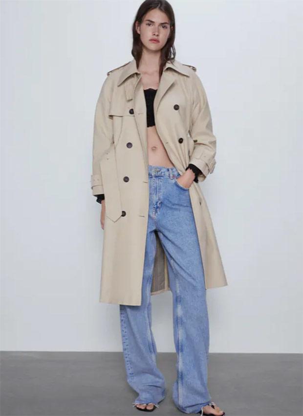 Trench con cinturón de las Rebajas Zara Verano 2020