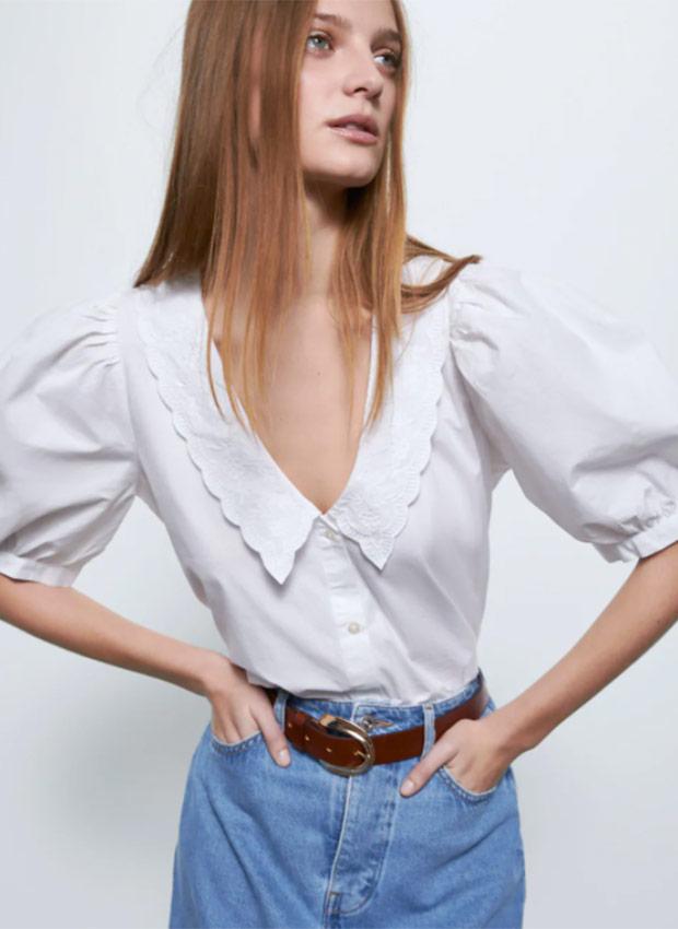 camisa blanca de las Rebajas Zara Verano 2020