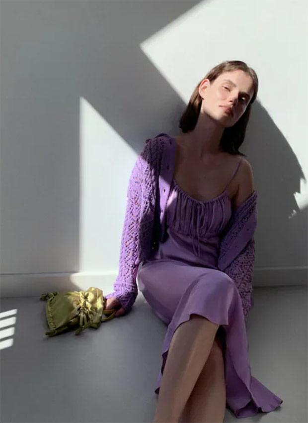 Vestido lila de las Rebajas Zara Verano 2020