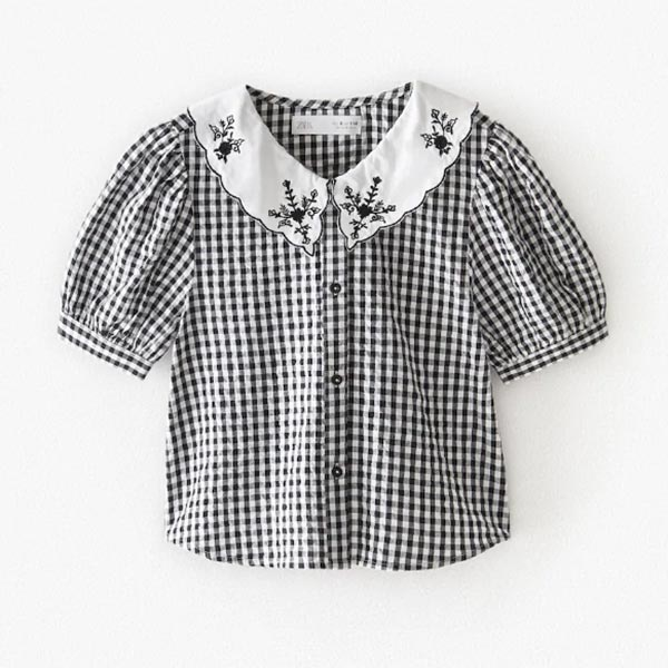 Blusa de cuadros vichy de niña de Zara Kids