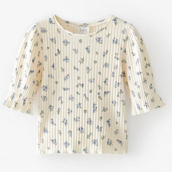 Camiseta estampada de niña de Zara Kids