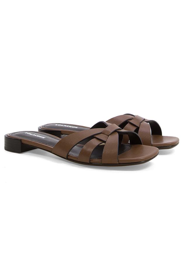 Sandalias de Lola Cruz con tiras en piel
