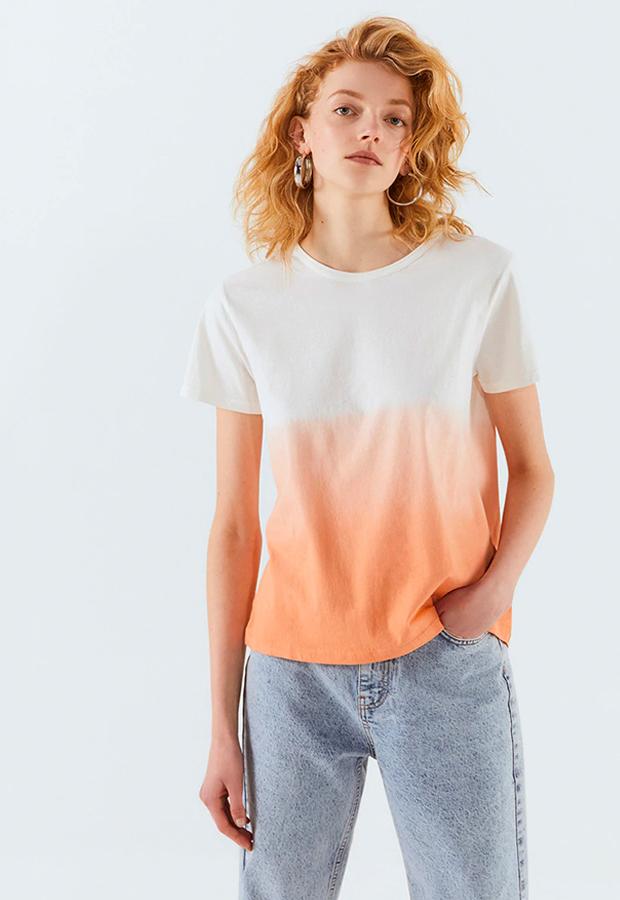 camisetas basicas Camiseta tie dye con cuello caja de Sfera