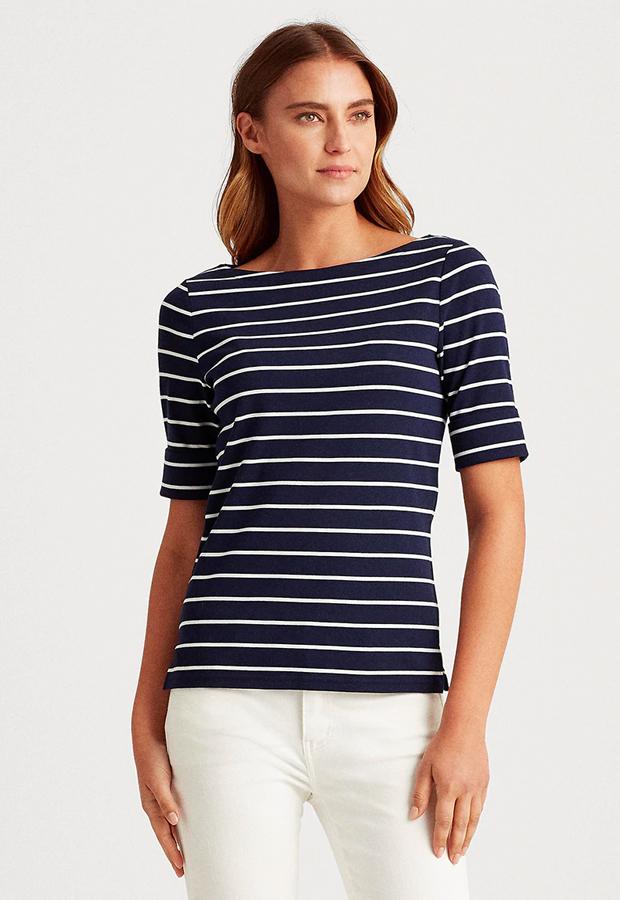 rayas marineras Camiseta de rayas Lauren Ralph Lauren