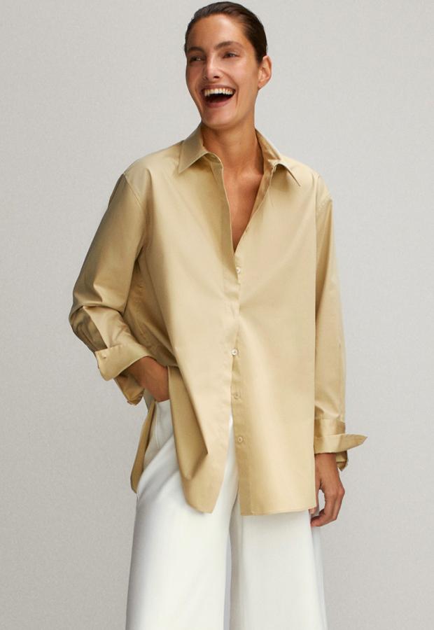 prendas satinadas Camisa satinada de Massimo Dutti