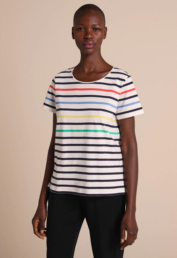 Camiseta 100% algodón con rayas marineras Woman El Corte Inglés