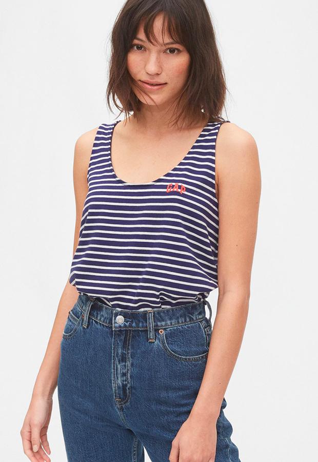 rayas marineras Camiseta de rayas sin mangas GAP