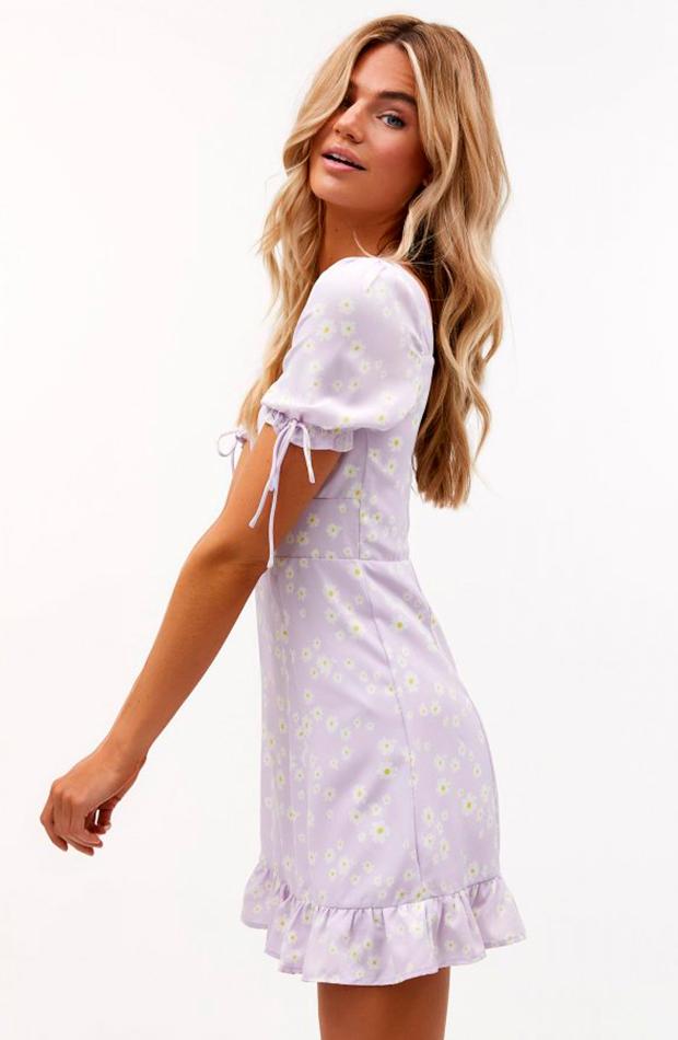 estampado de margaritas Vestido de Loavies color lila