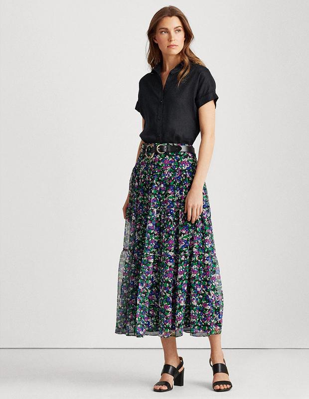 Falda tendencia de flores