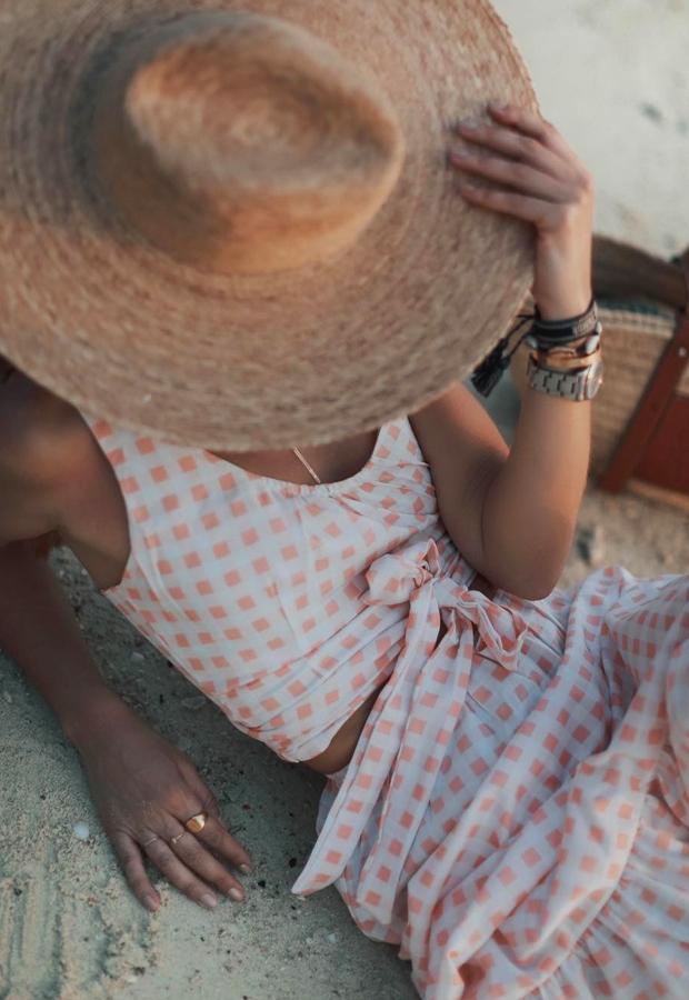 Looks de Bartabac verano cuadros rosas