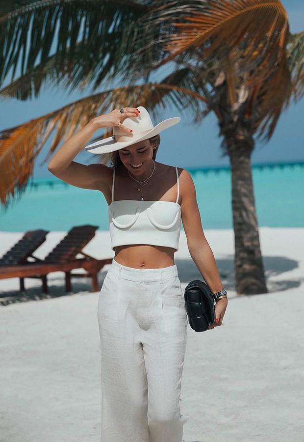top y pantalón blancos Looks de Bartabac verano