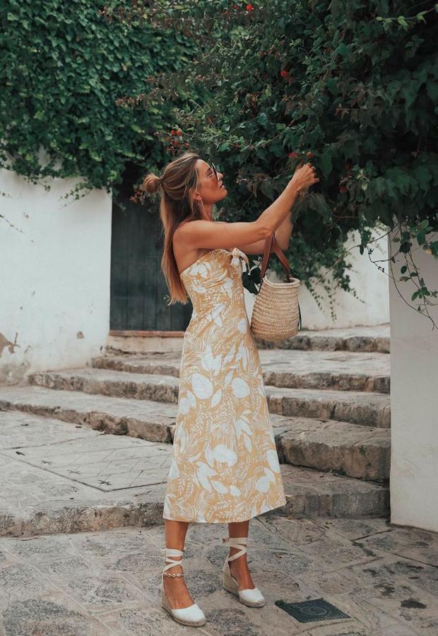 vestido amarillo midi Looks de Bartabac verano