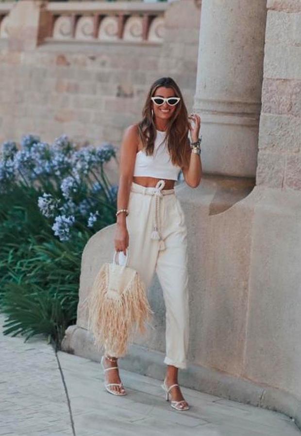 Looks de Bartabac verano pantalón de lino