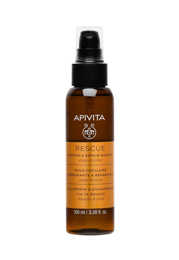 Aceite Nutritivo y Reparador Argán & Oliva Apivita productos pelo encrespado