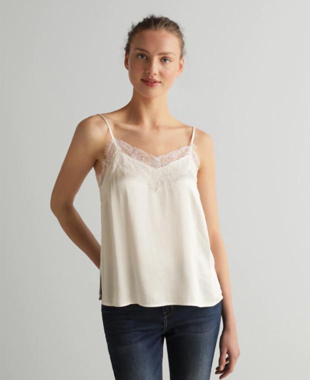 Prendas blancas: Top lencero