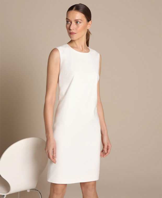 Prendas blancas: Vestido liso