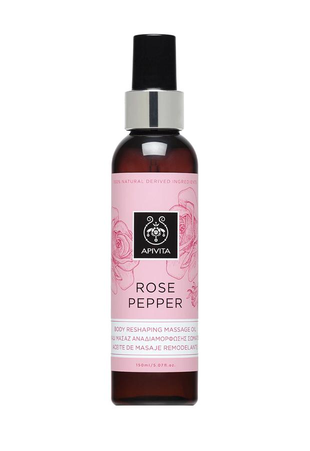 Aceite Corporal Rosa Pepper Apivita aceites corporales hidratantes