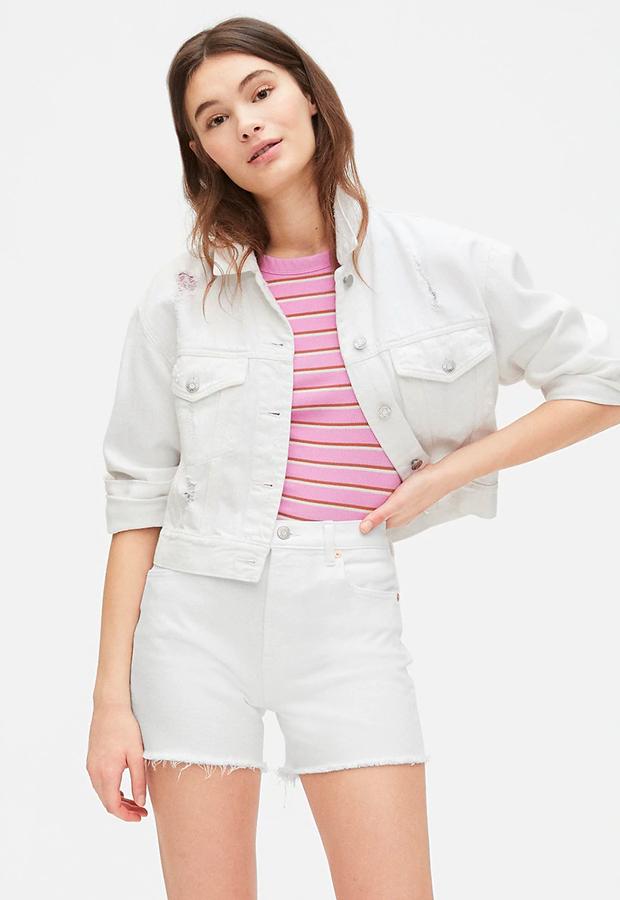 Short vaquero blanco GAP shorts verano 2020