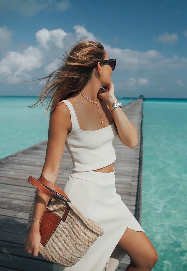 total look blanco de Bartabac verano