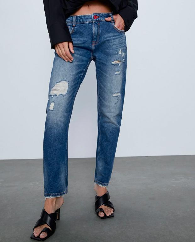 Pantalones rotos Zara