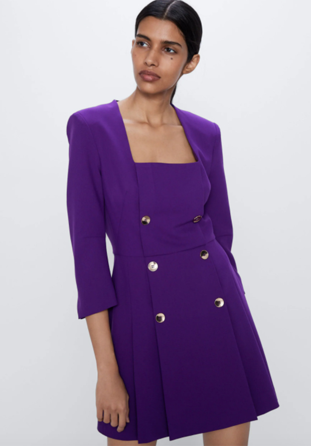 Vestido de estilo blazer de Zara