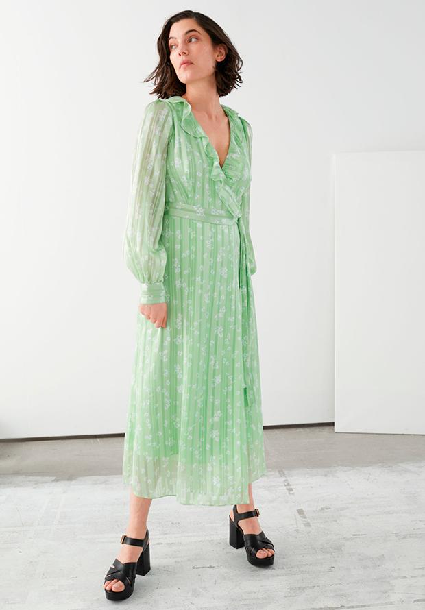 Vestido verde de rebajas para invitadas
