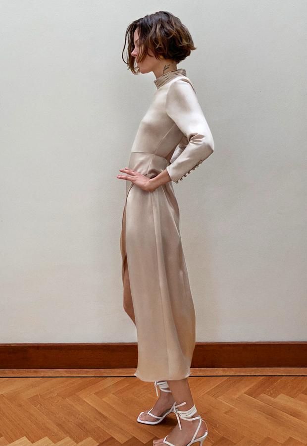 prendas satinadas Vestido Satinado Limited Edition de Zara