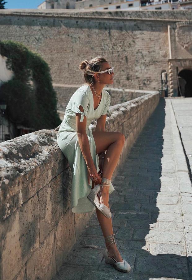 vestido verde pastel looks de verano Bartabac verano