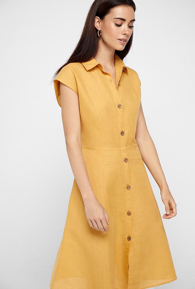 Vestidos de Cortefiel para verano de lino