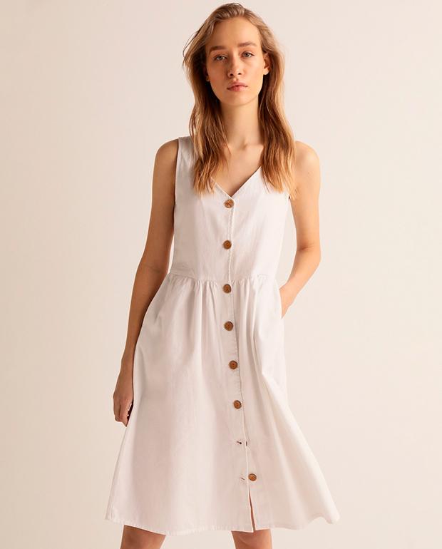 Vestido playero blanco El Corte Inglés