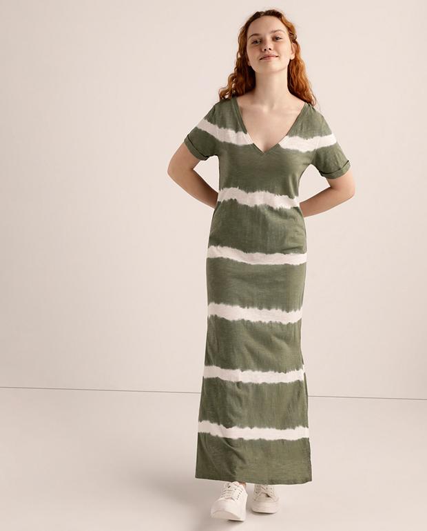 Vestido playero tie dye verde