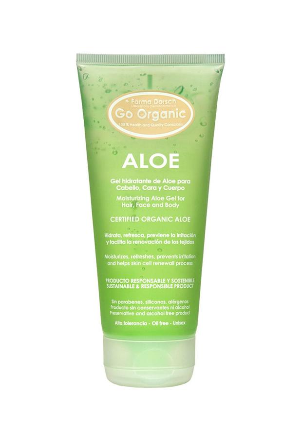 after sun productos reparadores Gel hidratante de Aloe Go Organic Farma Dorsch