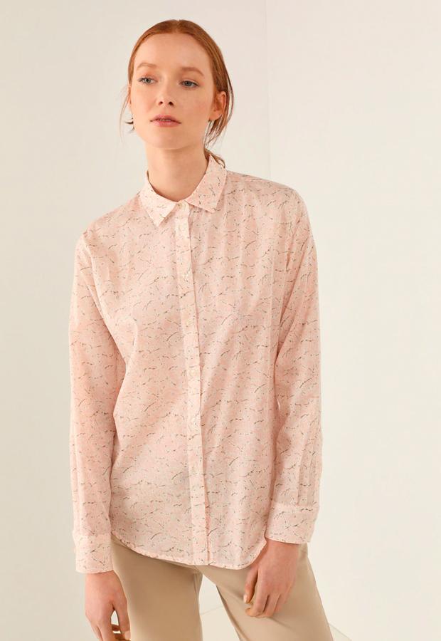 rosa es tendencia Blusa de Lloyd's 100% algodón con estampado de flores