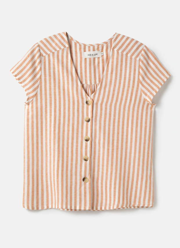 Camisa tendencia de rayas