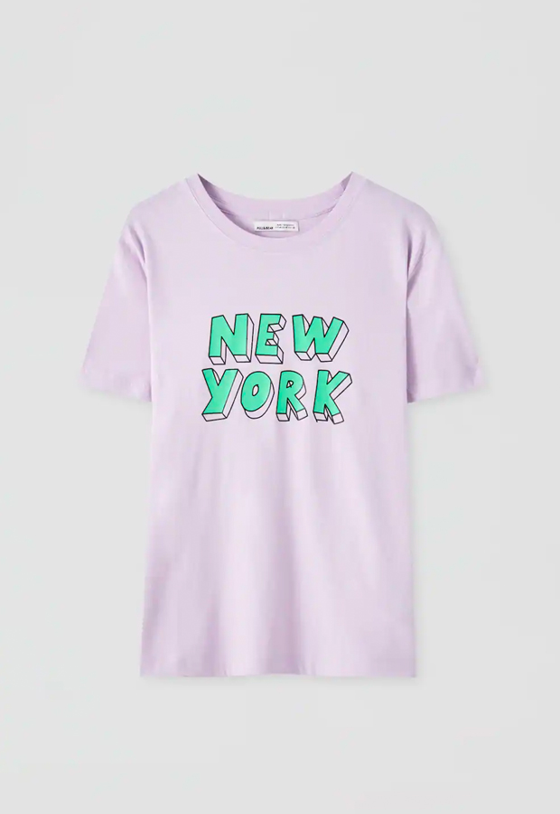 predas lila Camiseta lila New York