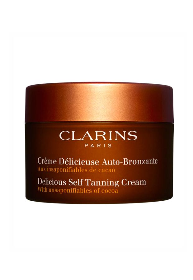 alargar el bronceado Crema Deliciosa Autobronceadora Clarins