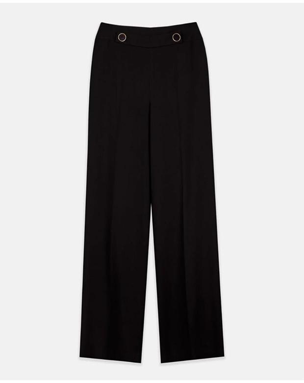 Pantalón negro con botones para cenas de verano