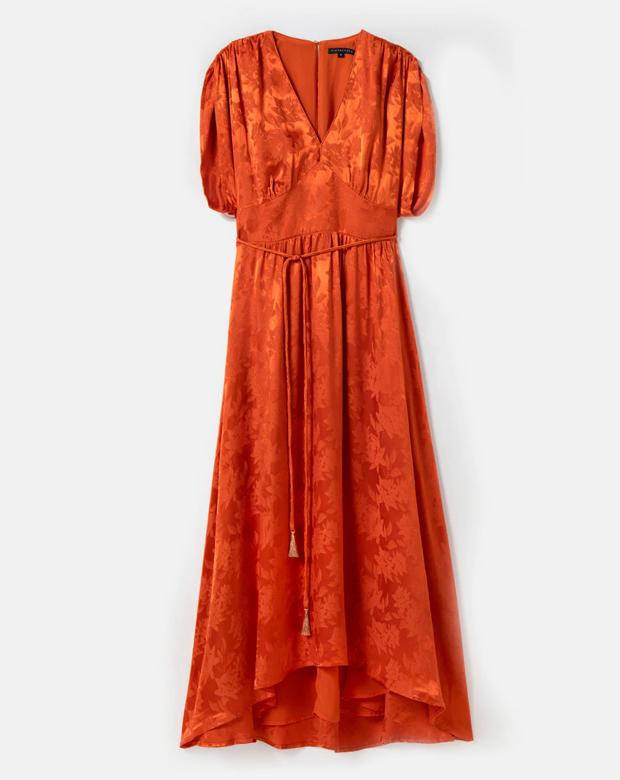Vestido largo jacquard de Tintoretto para cenas de verano
